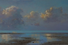 Cloud Study West Beach Whitstable, 61 x 24.5, oil on canvas