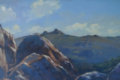 Haytor (plein air), 41 x 74cm, oil on wood panel