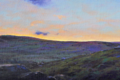 Last Light, 50 x 20cm, oil on linen
