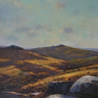 SOLD - Chinkwell Tor from Bonehill Rocks', 40 x 58cm, oil on wood panel