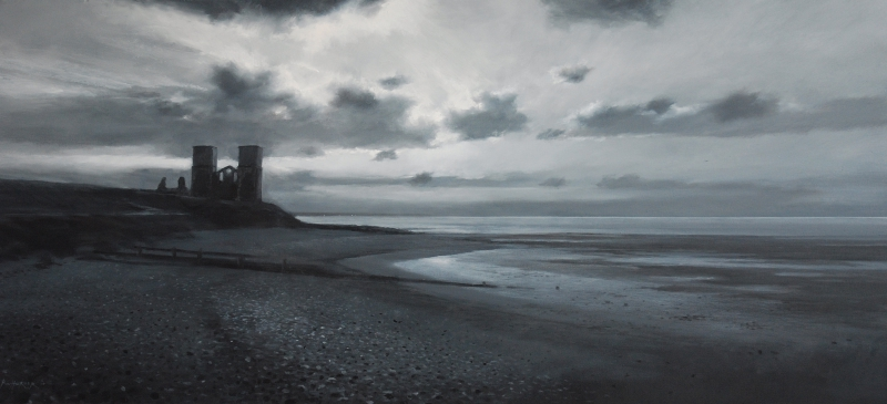 Reculver Towers, 92 x 40cm, oil on canvas - sold