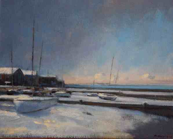 snow showers (morning)-whitstable beach