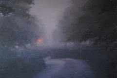2. 'Night Walk, Devon 3', 92 x 92cm, Oil on wood panel