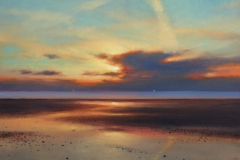 Sunset 1, 48 x 52cm, oil on canvas - sold