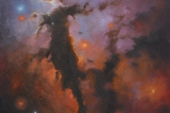 Eagle Nebula 2 (Sold) - 35 x 46cm, oil on canvas