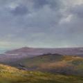From Haytor towards Teignmouth, 29 x 73cm, oil wood panel