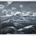 Hound Tor (framed) 31 x 40cm, oil on canvas.