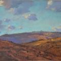 Towards Princetown. 28 x 20cm, oil on wood panel