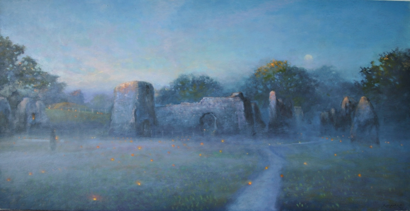 Lewes Priory - painting by Ric W. Horner