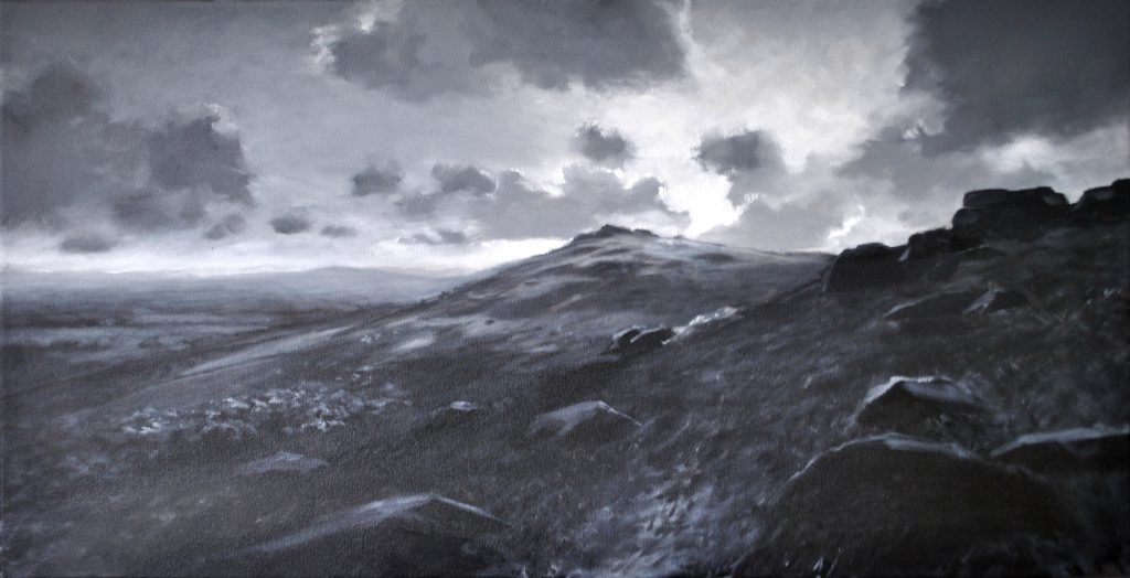 Tempest, 100 x 50cm, oil on canvas