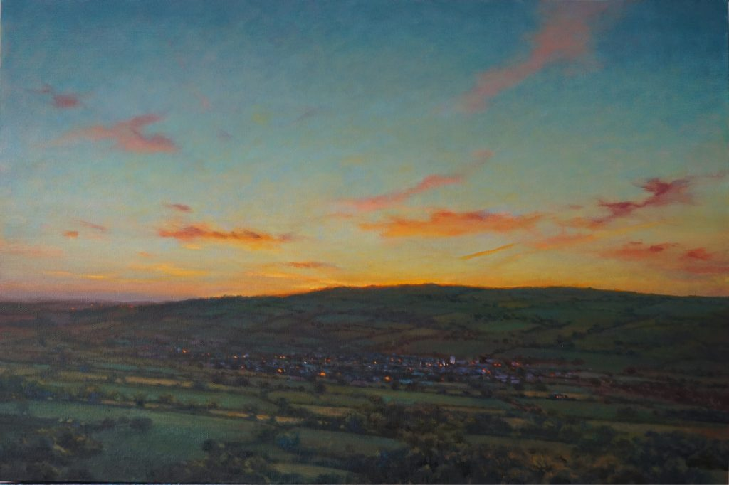 Ric W. Horner - Moretonhampstead from Easdon Tor, oil on canvas, 51 x 76cm