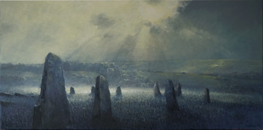 Ric W. Horner - Scorhill, oil on canvas, 100 x 50cm