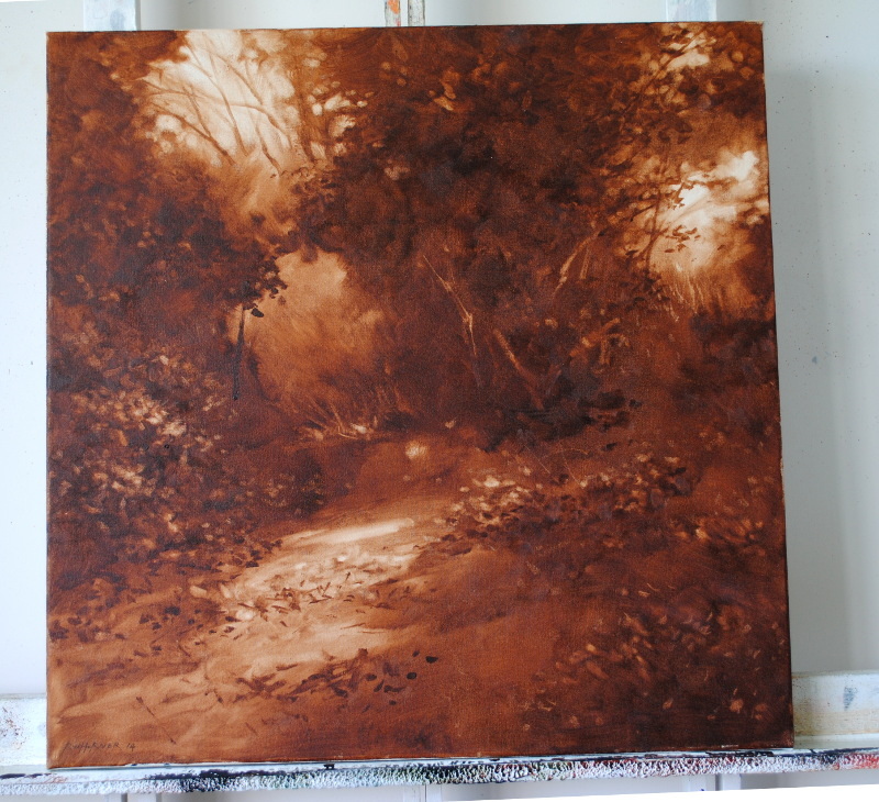 woodland painting (sepia)