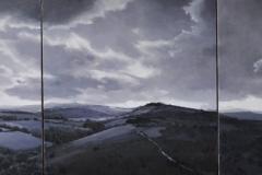 Dartmoor- Theatre of Light, 42 x 42cm each, oil on wood panel