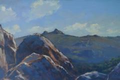 Haytor (plein air), 41 x 74cm, oil on wood panel