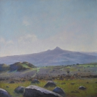 (SOLD) Tor Rocks, (towards Haytor) 47 x 47cm, oil on canvas