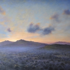 SOLD - Sunrise from Easdon, 60 x 90cm, oil on canvas
