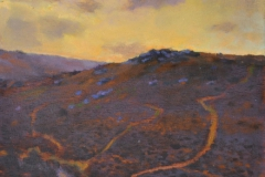 SOLD - Chinkwell Tor (from Bell Tor), 20 x 29cm, oil on wood panel