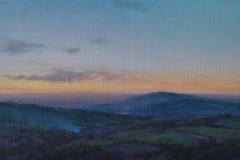 SOLD - Eearly Spring Dusk, 22 x 47cm, oil on canvas