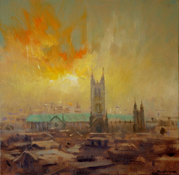 8. Canterbury Cathedral (autumn mist) 27 x 27cm