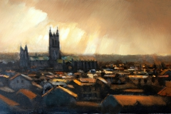 3. Canterbury Cathedral (after rain) 50 x 24cm