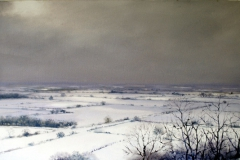 6.'Snowscape, North East from Crown Hill', 51 x 100cm, oil on wood panel