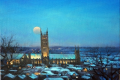 7. Canterbury Cathedral (moon rise) 29 x 21cm