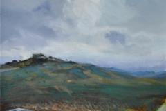 Sharp Tor 1, 25 x 25cm, oil on canvas
