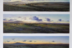 Sunset in three stages, 61 x 61cm, oil on canvas